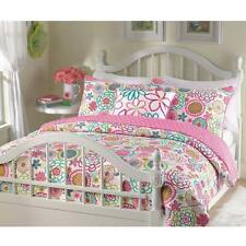 Girl Comforter Set Queen Bedding Pink Quilt Children Kids Teens Bedroom Decor