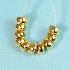 4MM 14K Gold Filled Smooth Rondelle Donut Spacer Beads (10)