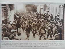 1914 GERMAN PRISONERS FRENCH CUIRASSIERS WWI WW1