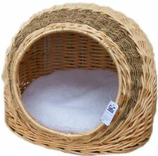 Osier chat chaton chien grand igloo bed