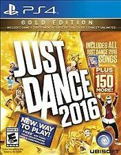 PLAYSTATION 4 JUST DANCE 2016 GOLD EDITION BRAND NEW - FREE 1ST CLASS SHIPPING