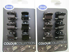 JOBLOT 120x Goody Girls MINI HAIR CLAWS/Clips/Clamps/Grips WHOLESALE Black/brown