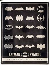 BATMAN LIMITED EDITION METAL SIGN ... BATMAN SYMBOLS HISTORY