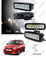 6 LED FOG LIGHT/WORK LIGHT BAR SLEEK FOR HYUNDAI I10 SET OF 2