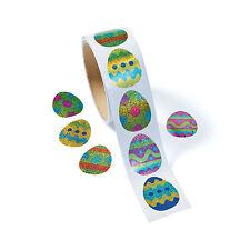 300 Prismatic Egg Stickers EASTER BASKET FILLER EGG HUNT PRIZE CRAFTS