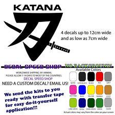 Katana Suzuki Decals X 4
