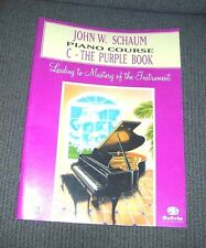 John W. Schaum Piano Course C Purple Book