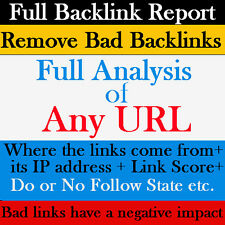 FULL BACKLINK Report For Your or Competitor Website-Website SEO-Remove Bad Links
