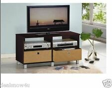 TV Entertainment Center and Television Stand with Drawer Storage Shelf Espresso