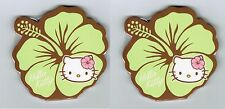 Sanrio HELLO KITTY Green Hibiscus FLOWER Set of 2 Sticky Notes pads NEW 2011