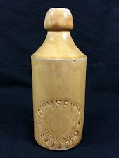 Stone Bottle Townsend's Ginger Beer Salford UK Antique Stoneware