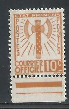 France stamps 1943 YV Service 1  MNH  VF
