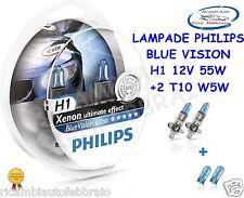 Kit 2 Lampade Philips H1 Blue Vision Ultra + 2 W5W Lampadine Fari Auto