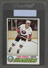 ** 1977-78 OPC Lorne Henning #219 (NRMT+) Nice Old Hockey Card ** P4026
