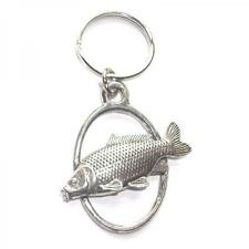 Silver Common Carp Fish English Pewter Keyring Handmade In England Key Ring New