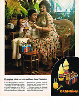 PUBLICITE ADVERTISING  1974    ORANGINA   boisson