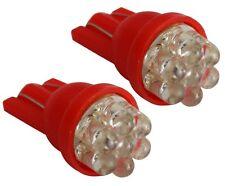 2x ampoule T10 W5W 12V 7LED rouge veilleuses éclairage intérieur plafonnier