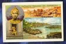 chromo Colonie Française Colony Cambodge Cambodia Indochine Phnom Penh 1900 card