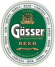 "Gosser Beer Car Bumper Window Locker Sticker Decal 4""X5"""