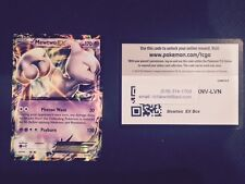 POKEMON  MEWTWO EX (XY-183)  REGULAR SIZE  HOLO plus BONUS On-line-code card !