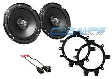 "JVC 6.5"" CHEVY GMC FULL SIZE TRUCK FRONT DOOR SPEAKERS W/ BRACKETS AND HARNESS"