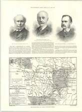 1890 Map Of British And German Possessions Africa Sir Edward Bradford