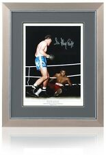 "Sir Henry Cooper Hand Signed 16x12"" Muhammad Ali Photo AFTAL Photo Proof COA"