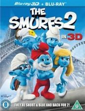 The Smurfs 2 [Blu-ray 3D + Blu-ray + UV] Brand New Sealed Mastered In 4K