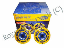 GENUINE HELLA YELLOW PANTHER HORN SET 12V (PAIR) CAR SUV BOAT TRUCK,JEEP@AU