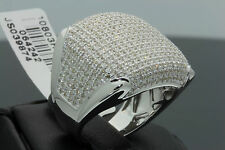 1.99 CARAT MENS WHITE GOLD FINISH GENUINE DIAMOND ENGAGEMENT WEDDING PINKY RING