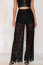 Mustard Seed By Nasty Gal Sneak Peek Lace Pants Size S