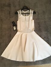 GUESS Marciano Bianco Skater Dress Size USA piccoli o UK 8-10 Bnwt viscosa Spandex
