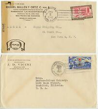 1945 WWII-era Dominican Republic covers to US