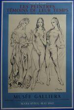 """FOUJITA : """"Les trois Graces"""" LITHOGRAPHIE ORIGINALE SIGNEE # MOURLOT 1960 # Rare"""