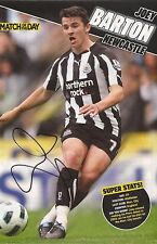 NEWCASTLE: JOEY BARTON SIGNED A4 (12x8) MAGAZINE PICTURE+COA
