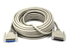 100ft IEEE-1284 Serial RS232 25pin DB25 DB 25 Male to Female M/F Molded Cable