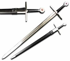 "40"" TEMPLAR Medieval Battle Ready Sword With Sheath and Belt Loop"