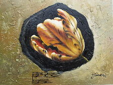 """""""Musical Flower"""" Original Hand Painted 8""""x10"""" Floral Oil Painting Art"""