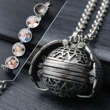 Personalized Antique Silver Custom Photo Locket Frame Pendant Necklace For Women
