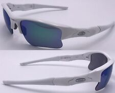 NEW AUTHENTIC Oakley Flak Jacket XLJ sunglasses White Jade Green Lenses 26-222