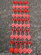 25 Red Vents With Retaining Lip For Plastic Gas Fuel Can Jug Cap Wedco Blitz x25