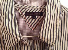 Pre-Loved 100% Auth By Tommy Hilfiger, Ladies  Striped, Office Shirt. 8