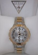 GUESS U13586L2 Status In The Round Crystal Rose Gold Tone & Steel Watch NWB