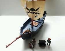 FANTASTIC HUGE PLAYMOBIL PIRATE SHIP & 2 FIGURES BUNDLE