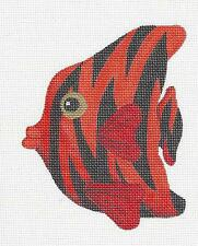 SP.ORDER~ Red TROPICAL FISH handpainted Needlepoint Ornament by Raymond Crawford