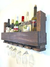 Reclaimed pallet wood wine rack hand crafted from reclaimed wood with