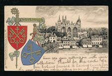 Northants PETERBOROUGH Cathedral Heraldic Tuck #183 embossed u/b PPC used 1904