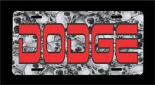 DODGE-Skull Pile (a) background metal license plate + FREE SHIPPING