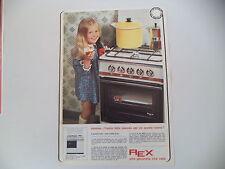 advertising Pubblicità 1968 CUCINA FORNO REX MINILUSSO 774/M
