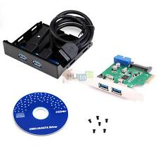 "USB 3.0 2-Port PCI Express Card Adapter USB 3.0 3.5"" Front Panel Expansion Bay"